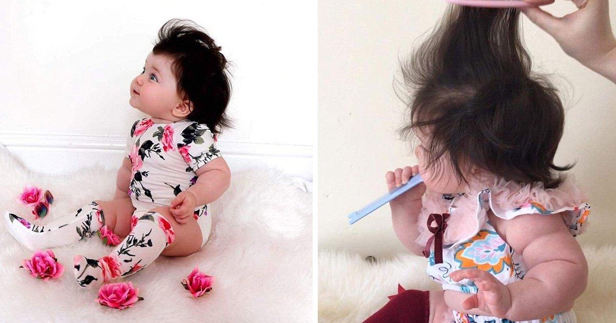 gagaaaa 1.jpg?resize=412,232 - Un bébé de 8 mois avec déjà de longs cheveux sur toute la tête