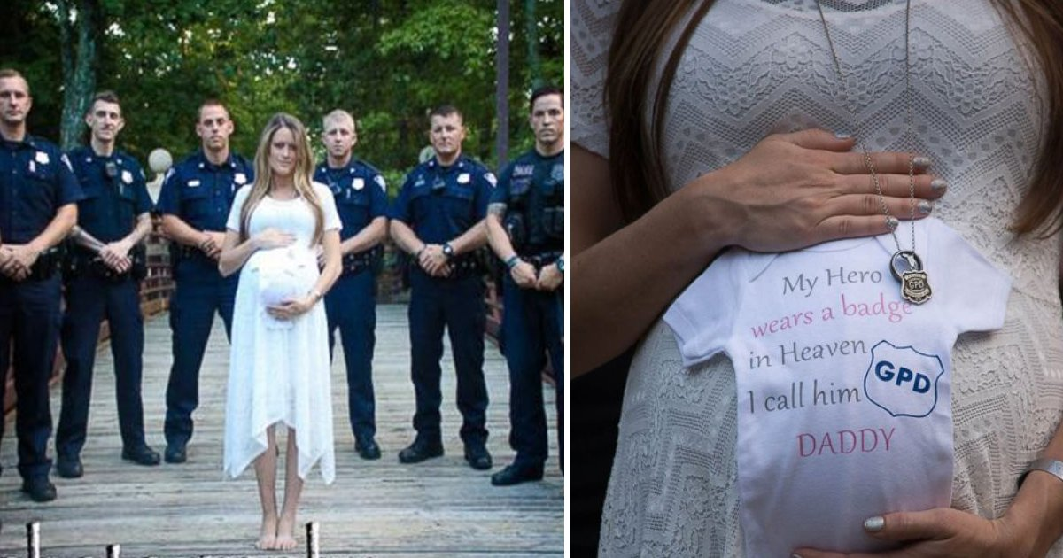 gagaaaa.jpg?resize=636,358 - Her Husband Died On Duty, So This Pregnant Woman Had A Photoshoot In His Honor