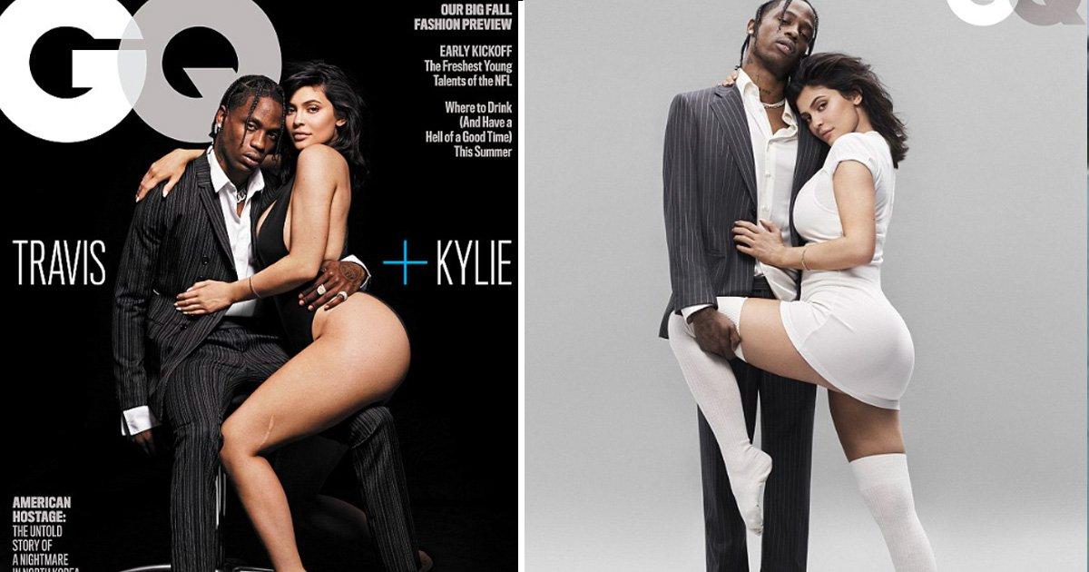 gagag 1.jpg?resize=1200,630 - Kylie Jenner et Travis Scott posent pour un photoshoot sexy suivi d'une toute première entrevue conjointe