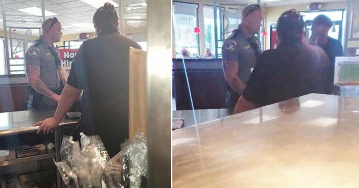 gagaggg.jpg?resize=412,232 - Un policier aide les sans-abri à se procurer de la nourriture plutôt qu'à les chasser