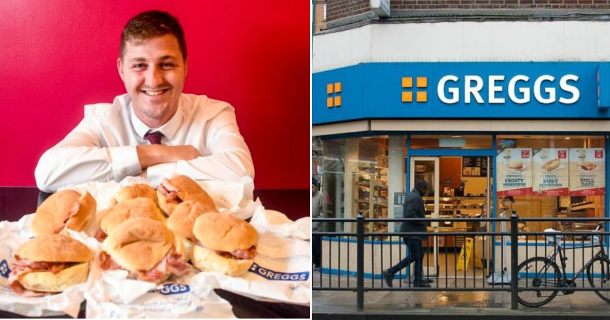 greggs food.jpg?resize=636,358 - Guy Spends $5,800 On Greggs Every Year, Saying He Can't Live Without It