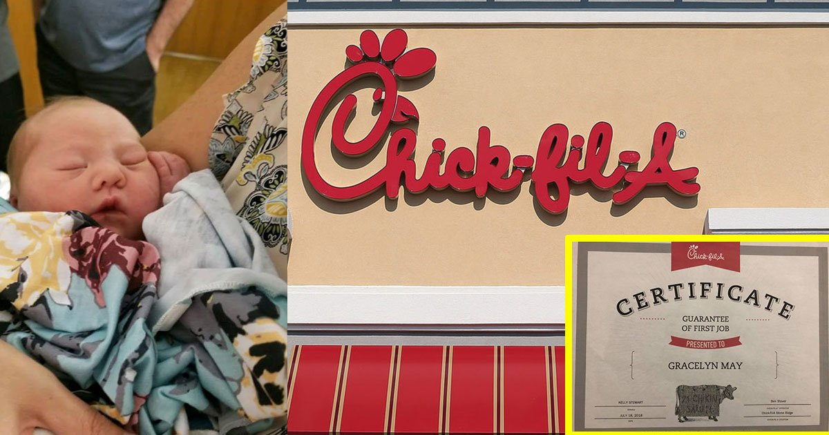 h.jpg?resize=636,358 - Chick-Fil-A Offered Free Meal For Life And Future Job To The Baby Who Was Born In Their Restroom
