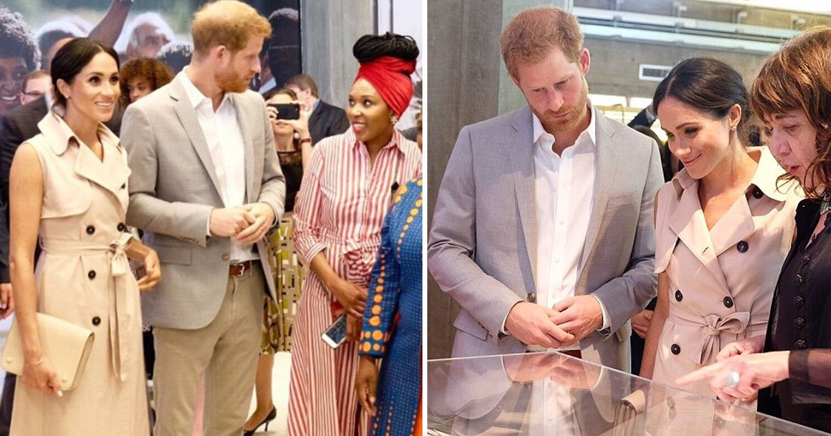 harry meghan nelson mandela exhibition.jpg?resize=412,232 - Harry And Meghan Spotted At An Exhibition On Nelson Mandela's Life, Received Praises From His Granddaughter Who Described Them As 'A Shining Example To Today's Youth'