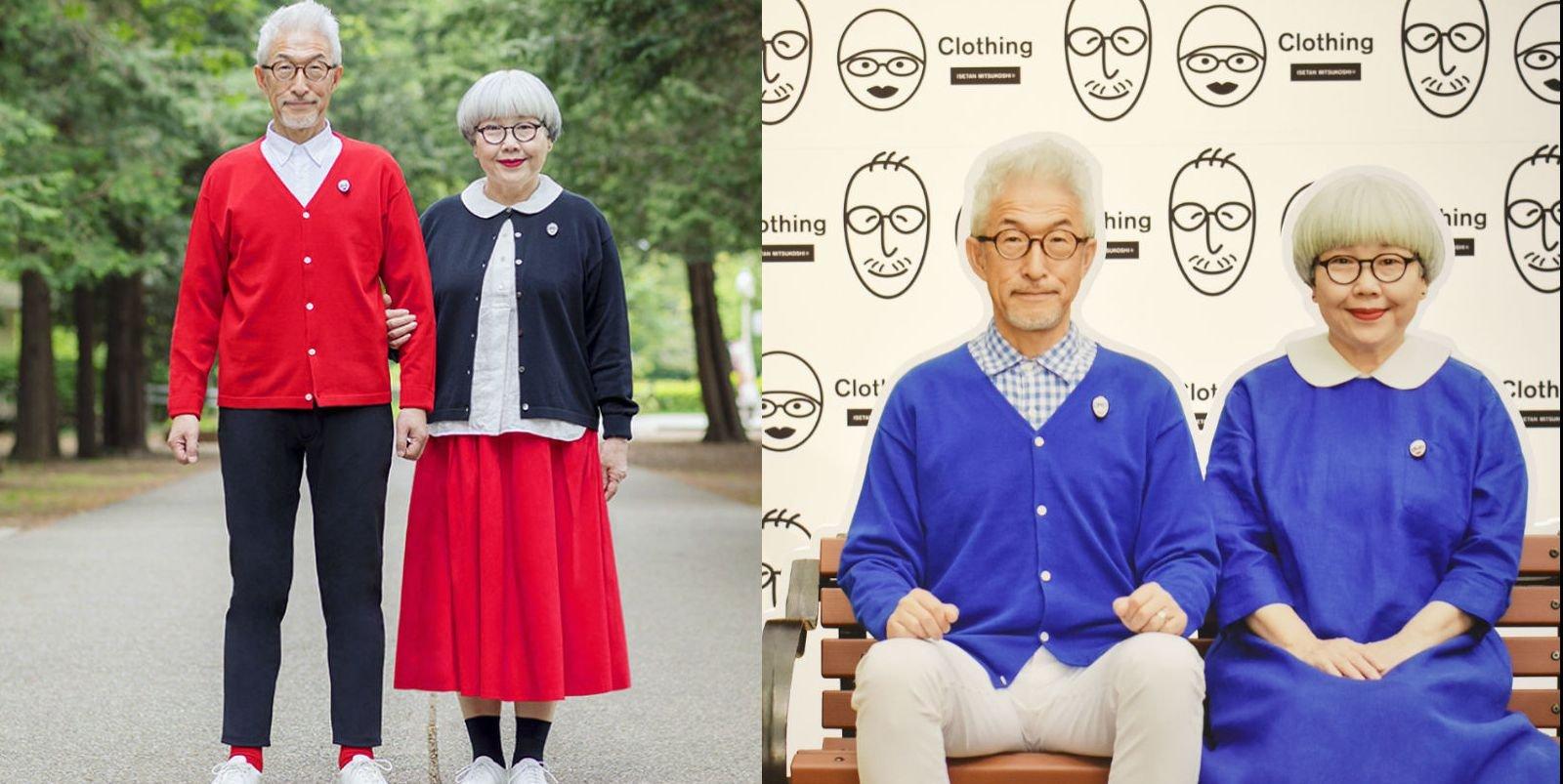 img 5b5a1ad5f2987.png?resize=1200,630 - 日本網紅銀髮夫妻「BonPon」示範穿一輩子都不會過時的情侶裝,只想和你一起慢慢變老~