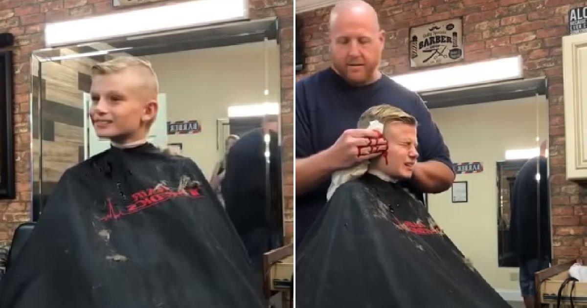 img 5b6057d241e7c.png?resize=636,358 - Tiro sai pela culatra quando menino tenta pregar peça em barbeiro. Será que ele aprendeu a lição?