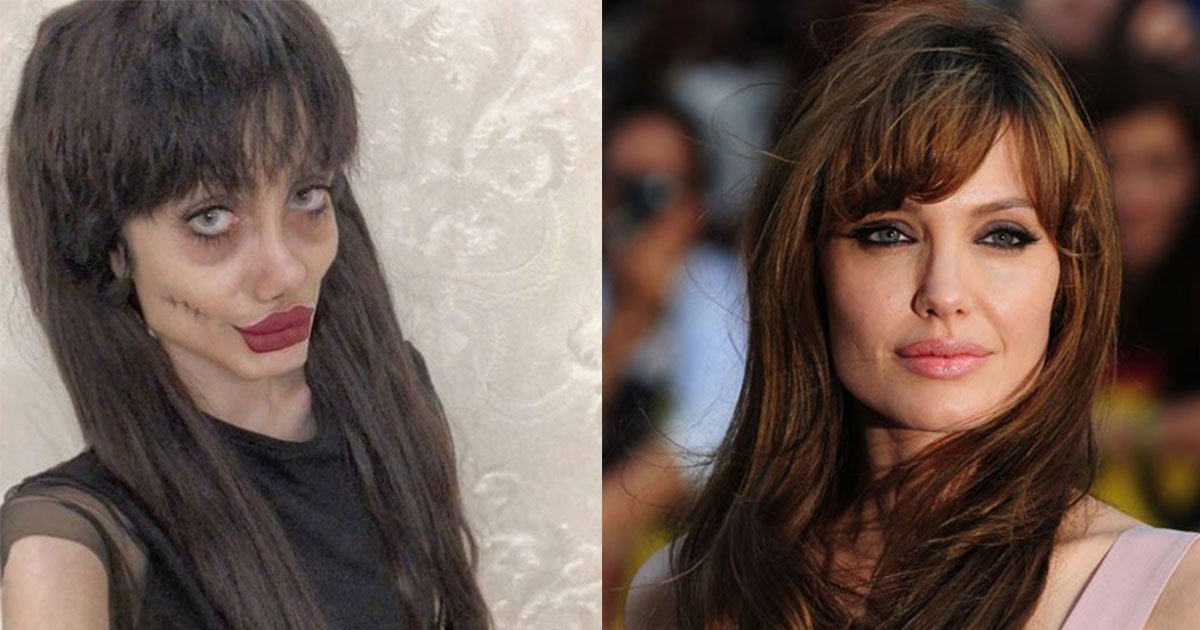 iranian girl who is said to be angelina jolies look alike revealed her real face and truth behind it.jpg?resize=300,169 - Iranian Girl Who Is Said To Be Angelina Jolie's Look-alike Revealed Her Real Face And The Truth Behind Her Signature Makeup Look
