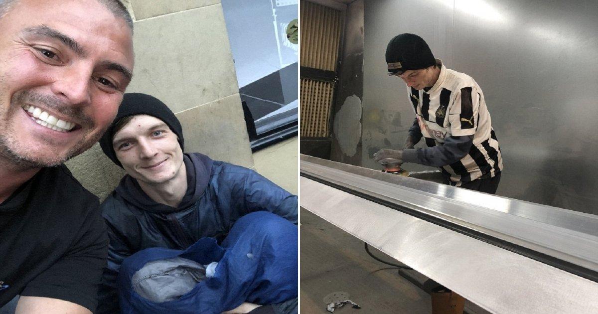 j2 side.jpg?resize=300,169 - Homeless Man Asked A Businessman For Spare Change But He Got A Job Offer Instead!