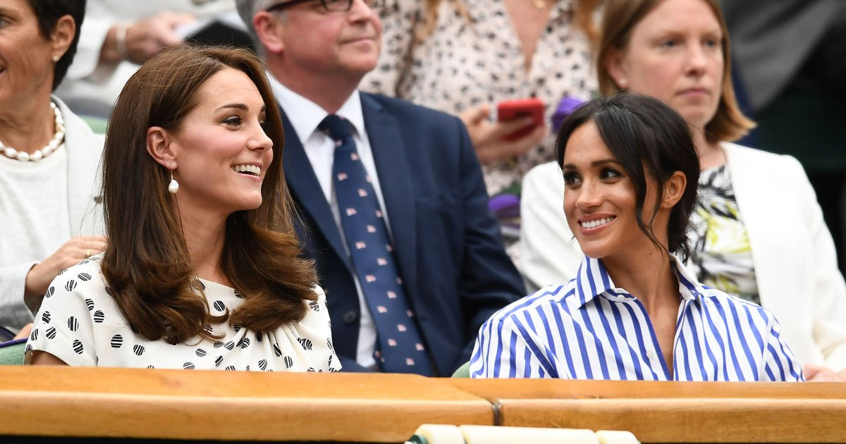 kate meghan wimbledon.jpg?resize=636,358 - Meghan Looks Chic While Kate Looks Elegant As They Make An Appearance At Wimbledon 2018 Wearing Contrasting Outfits