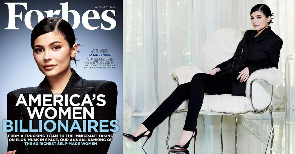 kylie jenner lands the cover of forbes as the youngest self made billionaire.jpg?resize=636,358 - Kylie Jenner Lands The Cover Of Forbes As The Youngest Self-Made Billionaire