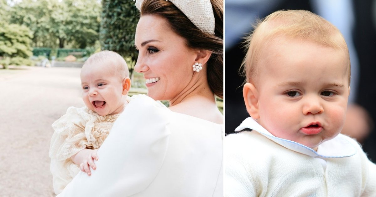 louis.jpg?resize=412,232 - Royal Fans Say Prince Louis Resembles His Elder Brother Prince George In A New Adorable Photograph Of His Christening