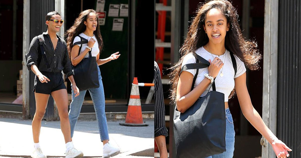 malia obama spotted on the streets of new york with a male friend.jpg?resize=636,358 - Malia Obama Spotted On The Streets Of New York City With A Friend