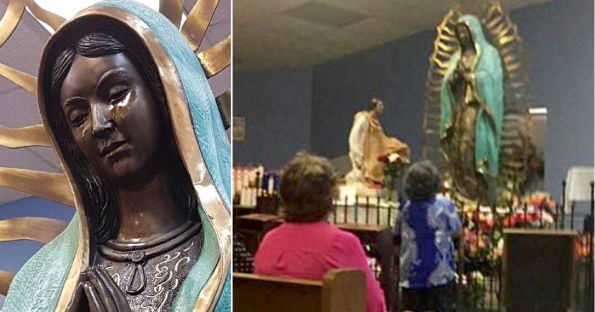 mary statue.jpg?resize=636,358 - New Mexico Virgin Mary Statue Is 'Weeping' Olive Oil; Church Investigating The 'Tears'