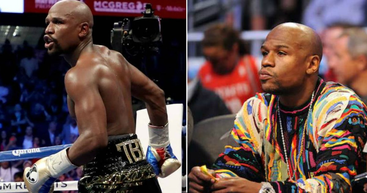mayweather 50 cents.jpg?resize=636,358 - Boxer Floyd Mayweather Calls 50 Cent A 'Snitch' And 'Broke' In Instagram Battle
