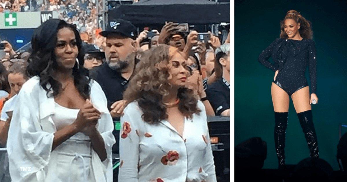 mch.jpg?resize=412,232 - Perdió la compostura y bailó como cualquier fan en el concierto de Beyoncé, Michelle Obama tiene mucha actitud