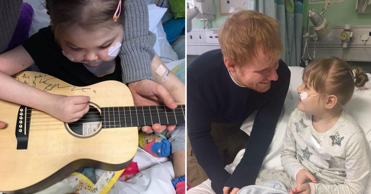 melody ed sheerans biggest fan he donated his guitar to has passed away.jpg?resize=636,358 - Melody, Ed Sheeran's Biggest Fan He Donated His Guitar To, Has Passed Away
