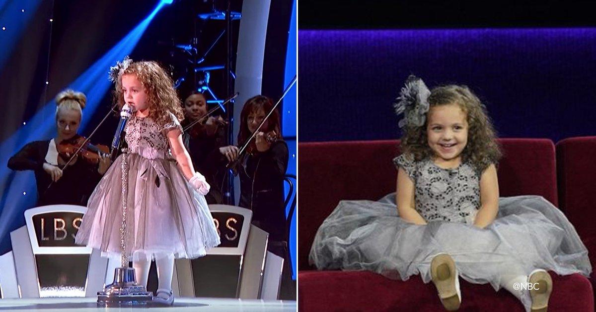 nena.jpg?resize=300,169 - Cuando esta niña de 4 años comenzó a cantar una canción de hace mas de 40 años, todo el público se quedó atónito