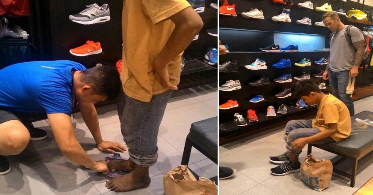 o side.png?resize=1200,630 - Un homme achète des chaussures Nike pour un enfant des rue aux pieds nus et émeut le monde entier