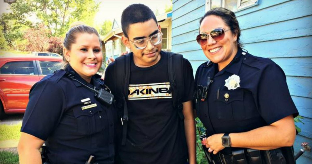 officers befriend.jpg?resize=636,358 - Two Police Officers Befriend Suicidal Teens After Bullies At School Pour Hot Glue On Him