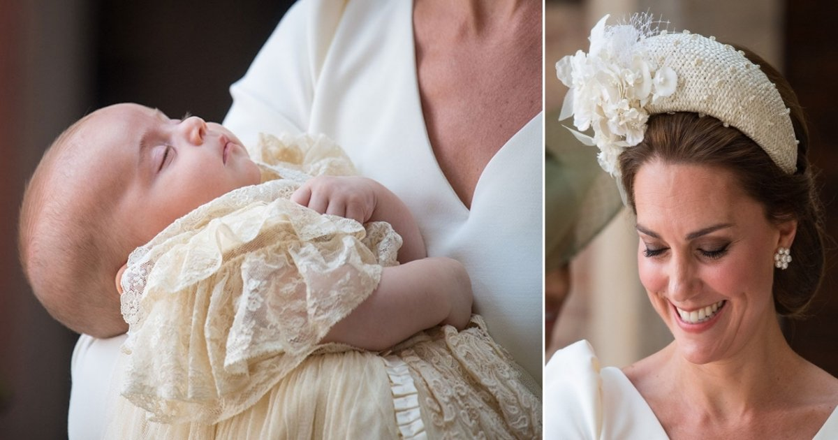 p side.jpg?resize=636,358 - Kate Middleton Arrives At Prince Louis' Christening Carrying Him In Her Arms, Dressed In Her Favorite Designer