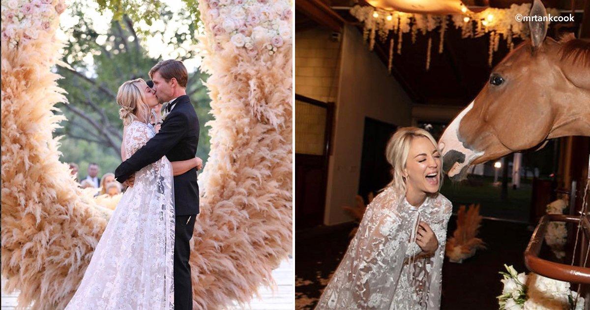 """penny.jpg?resize=1200,630 - Tuvo una boda muy singular Kaley la actriz de """"The Big Bang Theory"""", la realizó ¡En un establo!"""