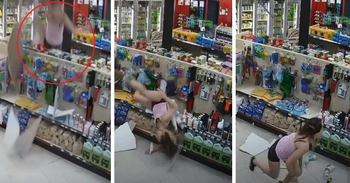 pic copy 3.jpg?resize=300,169 - Hilarious Moment Woman Fleeing Cops Through An Air Duct Falls Through Ceiling Of Convenience Store
