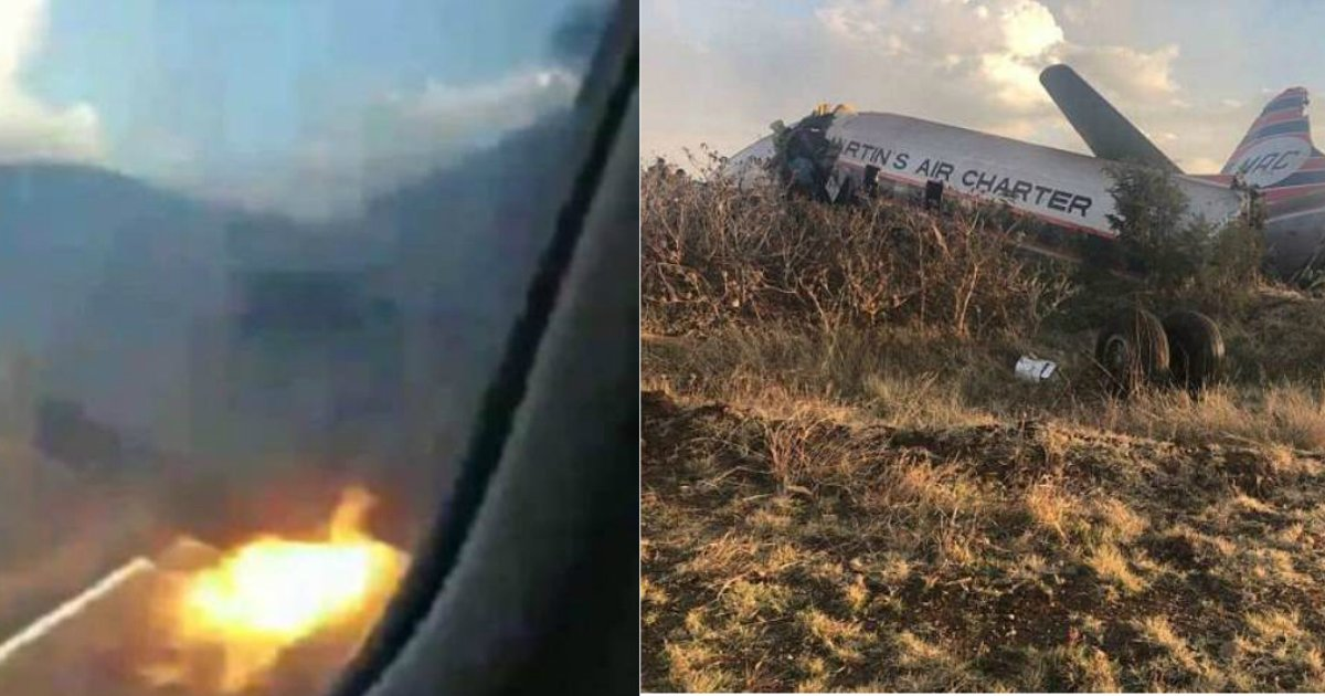 plane crash.jpg?resize=412,232 - Video Footage From Inside A Plane Records The Moment It Was Engulfed In Flames And Slammed Into The Ground