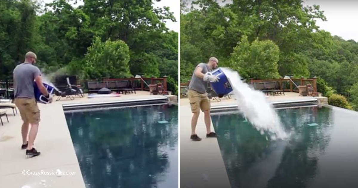 pool.jpg?resize=300,169 - Este video se hizo viral, una persona arrojó 13 kilos de hielo seco a una piscina y así consiguió una escena de película.