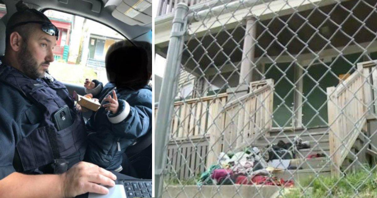 poor conditions.jpg?resize=412,232 - Des policiers découvrent une femme enceinte et son enfant de 2 ans vivant dans les conditions terribles d'une maison abandonnée