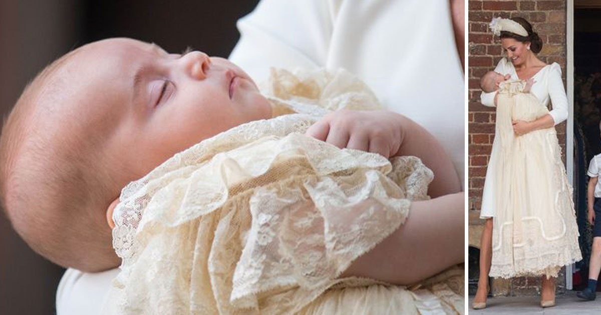 prince louise christening.jpg?resize=636,358 - Louis' Historic Honiton Lace Christening Robe Is A Replica Of Christening Gown Made For Queen Victoria's Daughter In 1841