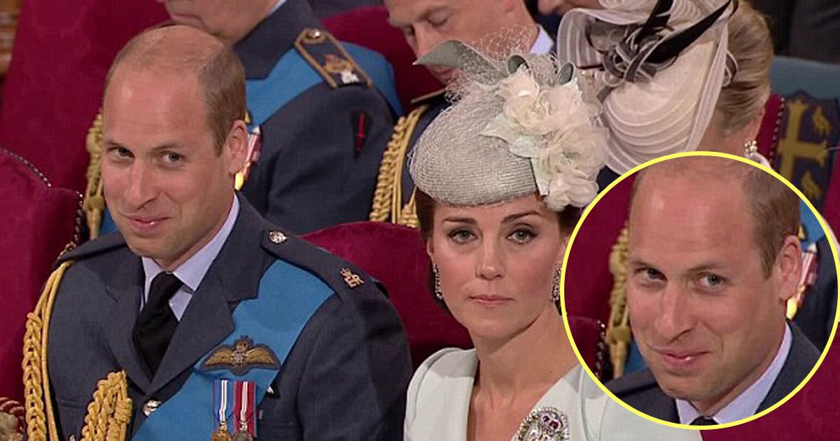 prince william giggle kate.jpg?resize=648,365 - Prince William Couldn't Stop Himself GIGGLING During The RAF Centenary Service And Here is WHY