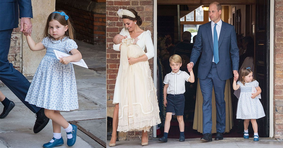 princess charlotte steals the show again at prince louis christening with her cheeky comment to photographers.jpg?resize=300,169 - La princesse Charlotte vole le spectacle au baptême du prince Louis