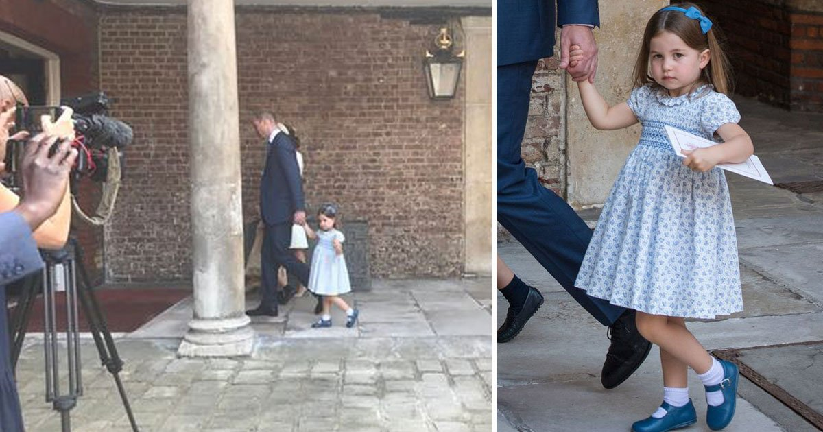 princess charlottes royal wave and a polite handshake during her brothers christening is the cutest thing on the internet today.jpg?resize=648,365 - Princess Charlotte's 'Royal Wave And A Polite Handshake' During Her Brother's Christening Is The CUTEST Thing On The Internet Today