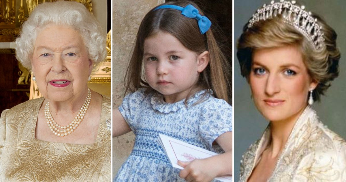 queen elizabeth diana charlotte.jpg?resize=636,358 - An Instagram Post Pointing Out The Similarities Between Princess Diana And Charlotte Went Viral And Left The Internet Divided