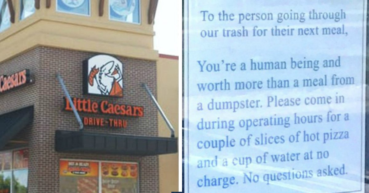 reaching out.jpg?resize=636,358 - Local Pizza Owner Reaches Out To Homeless Who Was Searching Through Their Trash To Find Food