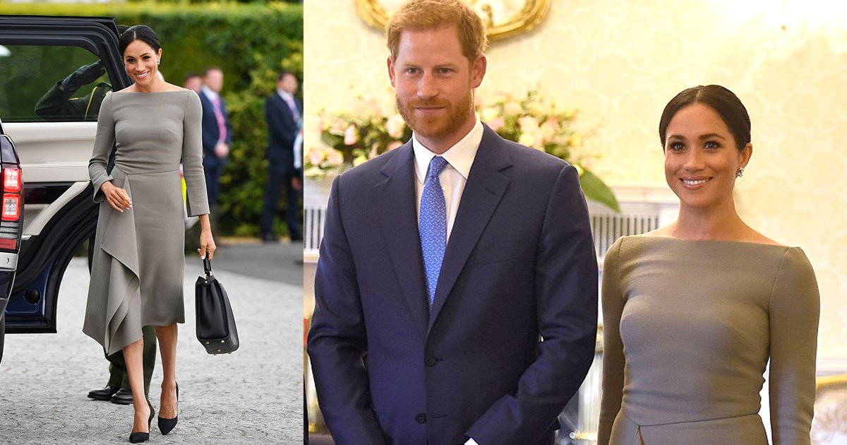 roland mouret.jpg?resize=1200,630 - Meghan Markle Stuns In Grey Roland Mouret Dress At Her Royal Visit To Ireland With Prince Harry