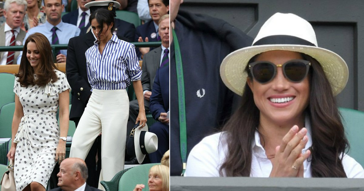 royal box.jpg?resize=412,232 - Here's Why Meghan Was Holding Her Hat At Wimbledon