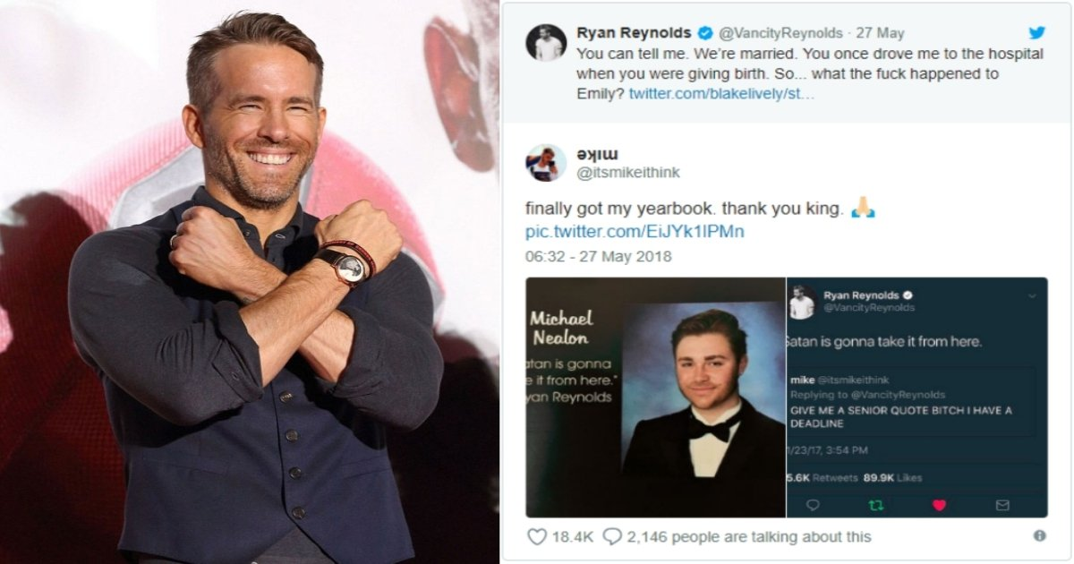 ryan 1.jpg?resize=412,275 - Fan Asked Ryan Reynolds For A Yearbook Quote And The Actor Delivered