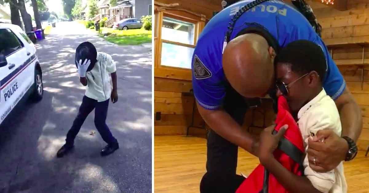 sadfafd.jpg?resize=300,169 - Un policier partage une vidéo d'un petit garçon dansant sur Michael Jackson et cela change sa vie.