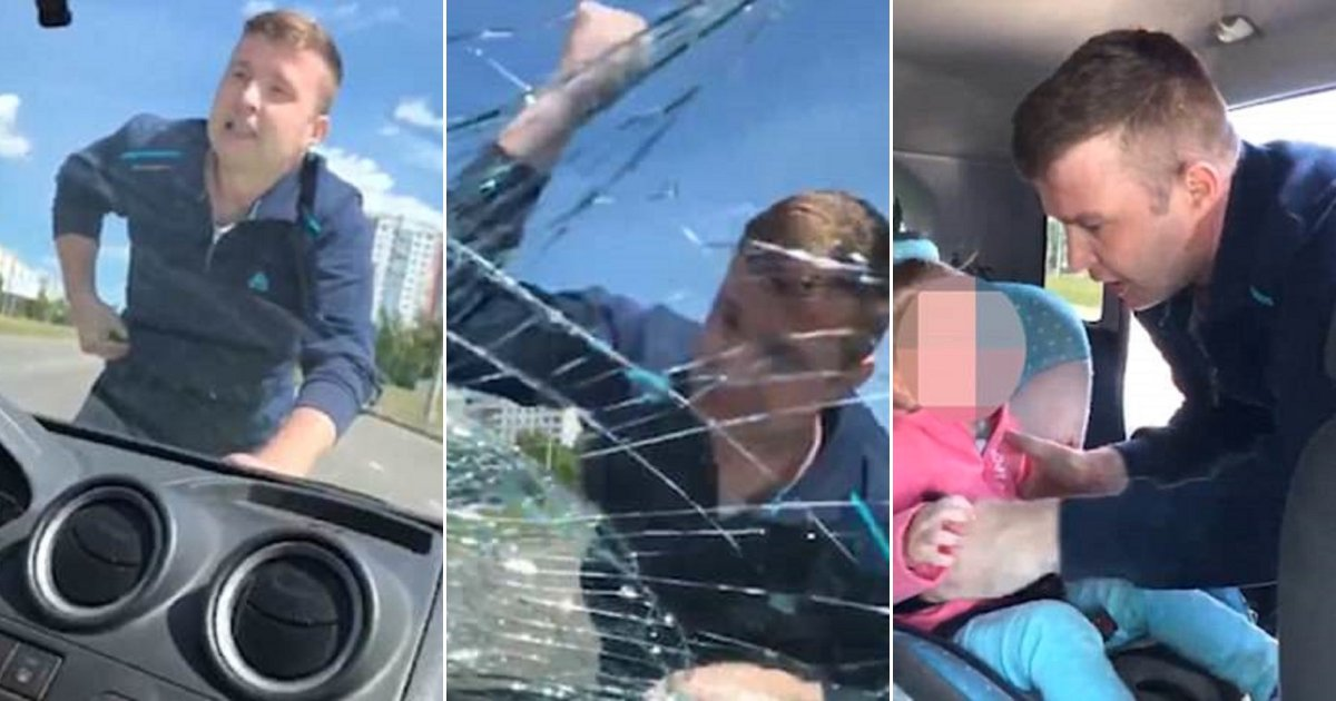 smash.jpg?resize=412,232 - Father Smashed Ex-Wife's Windshield And Took Screaming Daughter During Custody Row