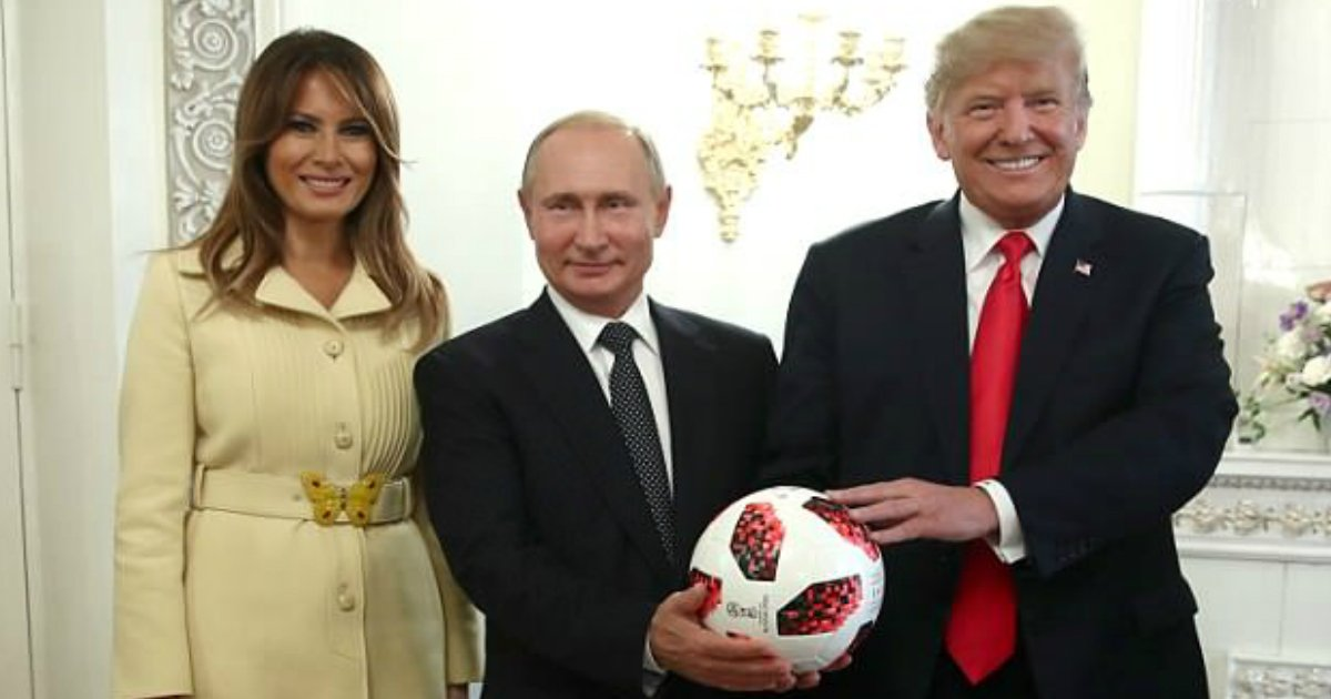 soccer ball.jpg?resize=412,232 - Russia President Hands Over World Cup Soccer Ball To Trump, He Tosses It Over To Melania
