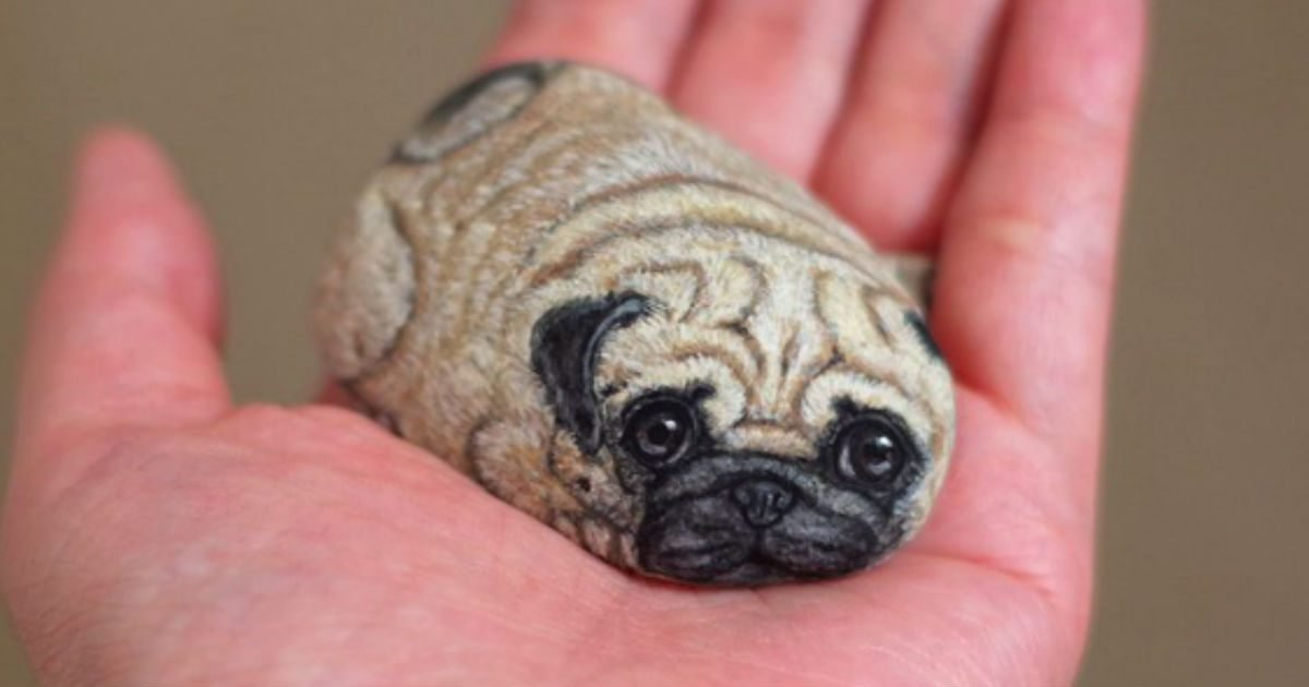 stone animals featured.jpg?resize=412,232 - Artist Paints Tiny Adorable Animals On Rocks