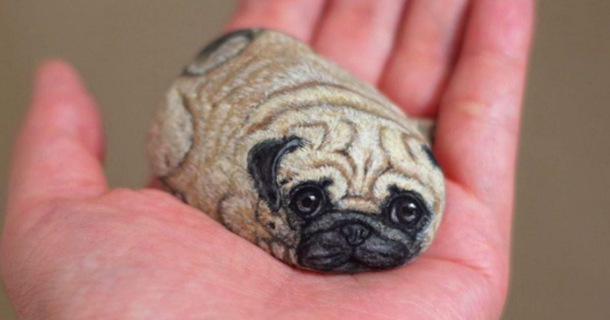 stone animals featured.jpg?resize=636,358 - Artist Paints Tiny Adorable Animals On Rocks
