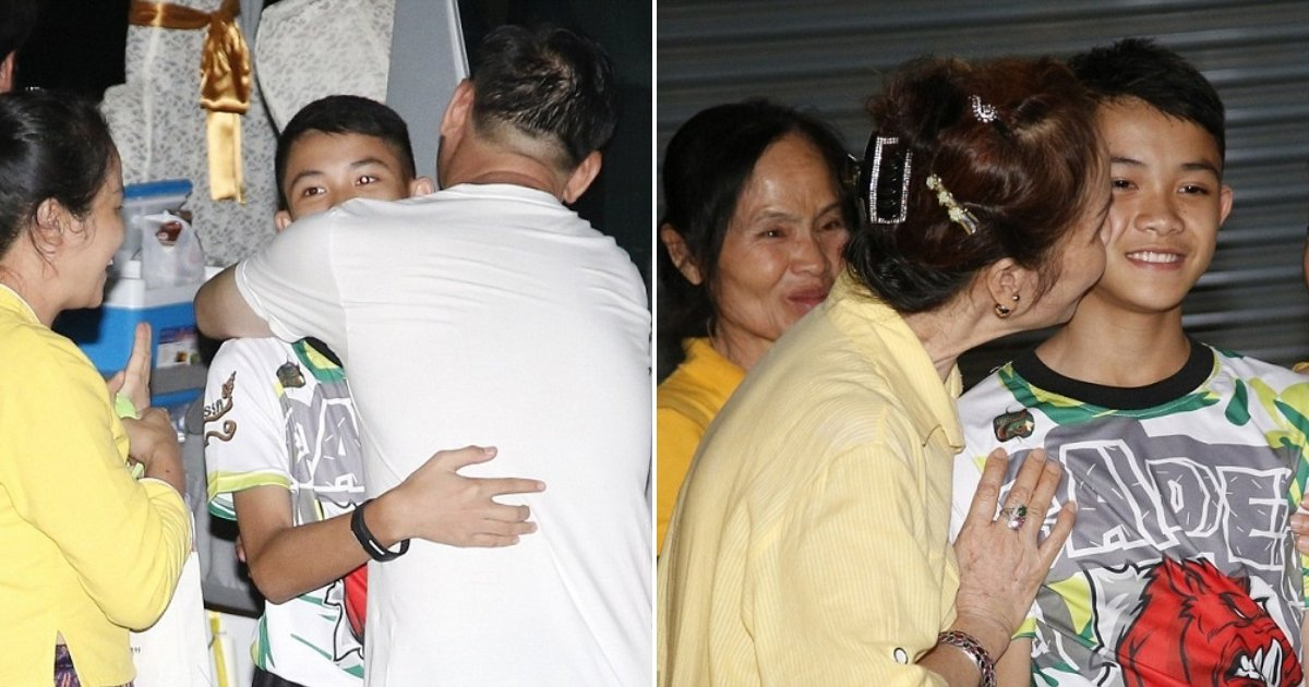 th.jpg?resize=412,232 - Home At Last! Thai Cave Boys Tearfully Reunite With Family After Being Released From Quarantine