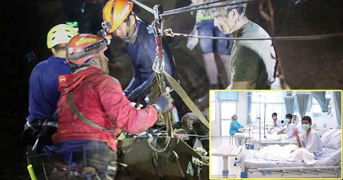 thai cave rescue 2.jpg?resize=1200,630 - Les jeunes thaïlandais ont été drogués pour les empêcher de paniquer pendant l'évacuation de la grotte