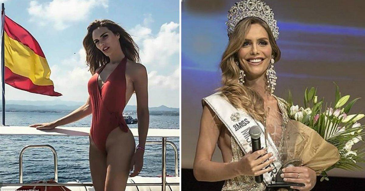 transgender model.jpg?resize=574,582 - Ce modèle transsexuel est entré dans l'histoire en devenant le premier à représenter l'Espagne à Miss Univers
