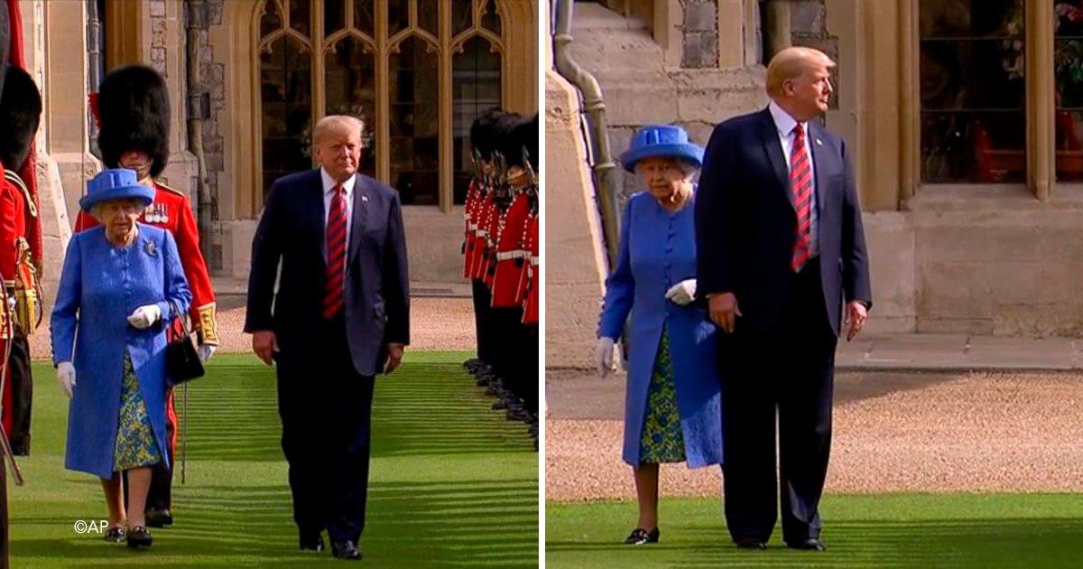 trump 5.jpg?resize=300,169 - Una vez más Donald Trump se comporta insolente y falta al respeto a la Reina Isabel, dos veces seguidas