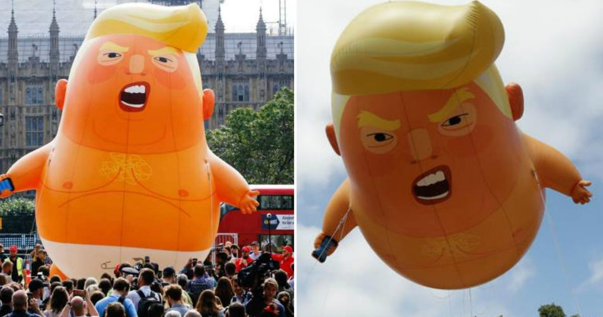 trump baby.jpg?resize=412,232 - Protestors Raise $6,000 In Two Days To Fly 'Trump Baby'