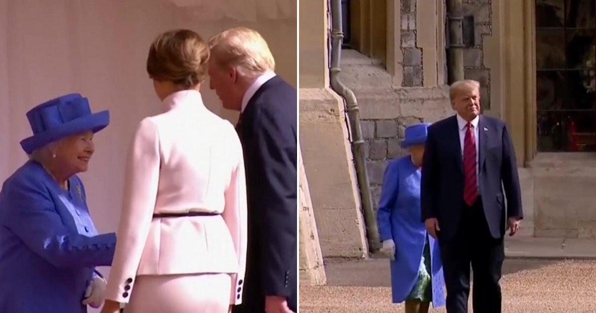 tt 2.jpg?resize=1200,630 - Le président Trump va à l'encontre des protocoles royaux, énervant au passage beaucoup de Britanniques.
