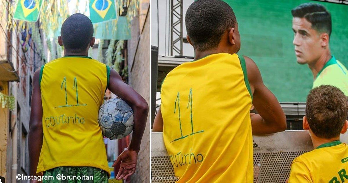 untitled 1 53.jpg?resize=648,365 - Jugador de la Selección Brasileña hace feliz a su gran admirador, un chico que vive en una favela
