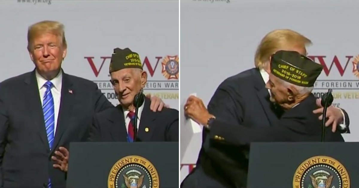 v.jpg?resize=636,358 - This 94-Year-Old WWII Veteran Always Wanted To Enter The Oval Office—Trump Just Granted His Wish